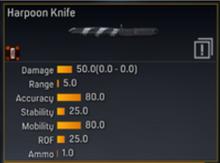 Harpoon Knife Stats