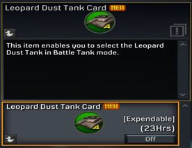 Leopard Dust Tank Card
