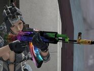 AK200 Neon equipped (3rd person)