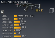 AKS-74U Black Snake statistics