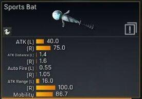 Sports Bat stats