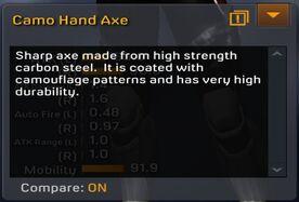 Camo Hand Axe description