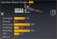 Hatchet Black Snake statistics