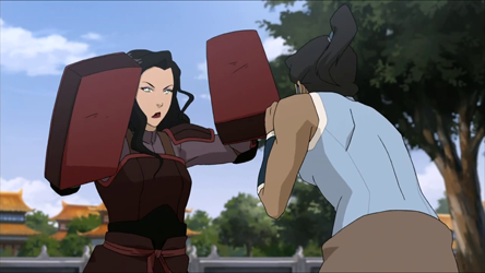 File:Korra spars with Asami.png