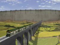 Monorail through Agrarian Zone