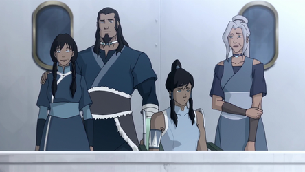 File:Korra, Tonraq, Senna, and Kya.png