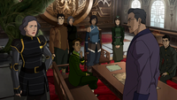 Preparatory meeting for Kuvira's arrival