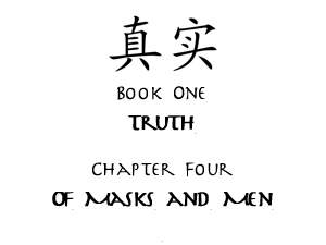 Of Masks and Men Title Card