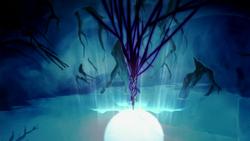 Korra opening the spirit portal