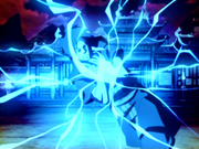 Zuko absorbs lightning