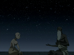 Pathik explaining to Aang