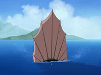 The unagi's dorsal fin