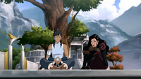 Asami watching over Korra