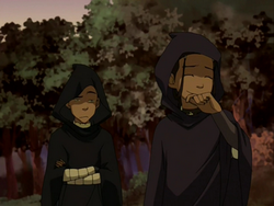 Hooded Sokka and Katara
