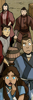 Katara and Sokka shocked