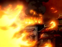 Royal Caldera ablaze