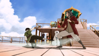 Jinora trains Bumi and Kai