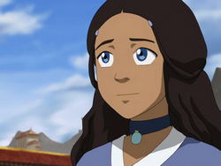 Katara smiles at coronation