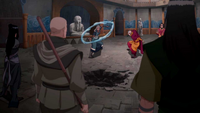Red Lotus vs Kya, Tenzin, and Bumi