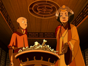Aang and Aunt Wu