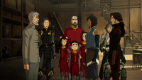 Hiroshi helps Team Avatar