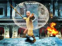 Aang airbending in The Last Airbender game