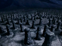 Stone pillar field