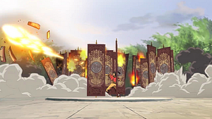 Korra destroying the airbending gates