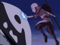 Aang connecting with Hei Bai