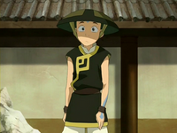Aang as an earthbending student