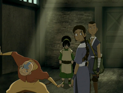 Aang excited