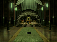 Earth Kingdom throne room