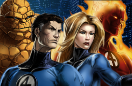 Fantastic Four Splash Artwork