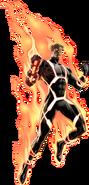 Annihilus Human Torch Portrait Art