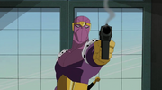 Baron Zemo with pistol