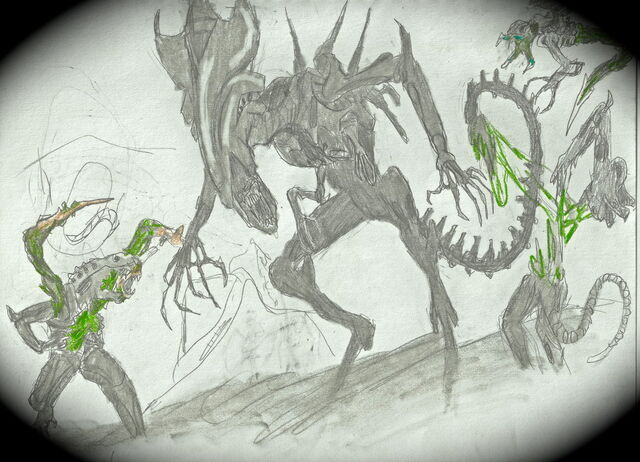 File:Xenomorph queen fight by dismemberednecromorf-d4h1pce.jpg