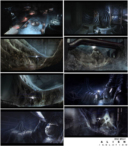 File:Alien Isolation Concept Art BW reactor-core-hive.jpg