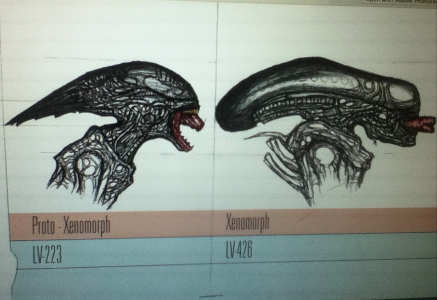 Image deacon and xeno jpg xenopedia fandom powered for Prometheus xenomorph mural
