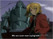 The Elric Brothers during the Season 2 End Credits