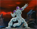 Frieza Controlling his Energy Disk to Chase Goku.png