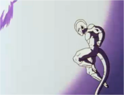 Frieza Preparing to Deflect Vegeta's Attack