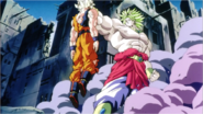 Broly Grabs Goku By His Hair Before Punching Him