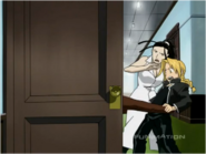 Edward Elric & Teacher are pulled into hiding place from Central Soldiers