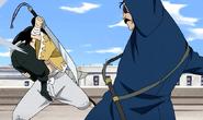 Ling Yao Fighting Fuhrer King Bradley While Carrying Lanfan