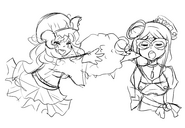 Mary Night and Lulu Sketch
