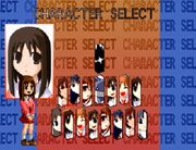 Azumanga Fighter Character Selection Screen