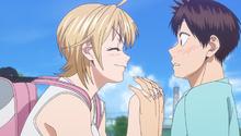 S2E22 Natsu congratulating Eiichiro