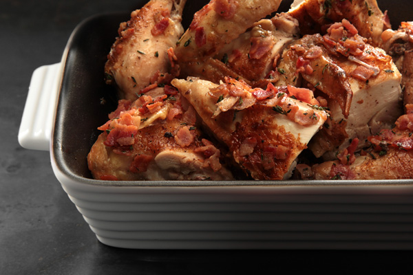 File:Brick Chicken with Rosé Wine and Bacon.jpg