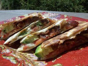 Bacon Blue and Avocado Quesadilla