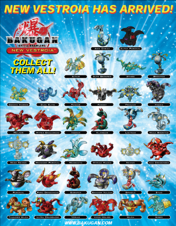 bakugan games list